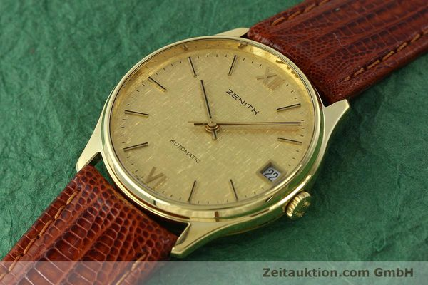 Used luxury watch Zenith * 18 ct gold automatic Kal. 2572PL Ref. 410.380  | 150822 01