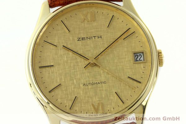 Used luxury watch Zenith * 18 ct gold automatic Kal. 2572PL Ref. 410.380  | 150822 02