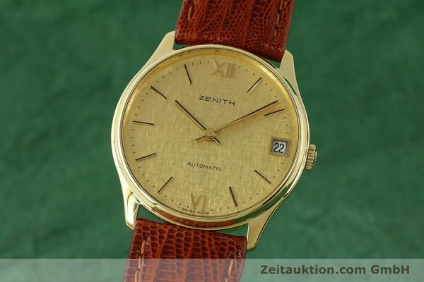 Used luxury watch Zenith * 18 ct gold automatic Kal. 2572PL Ref. 410.380  | 150822 04