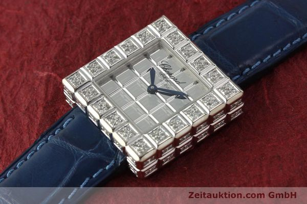 montre de luxe d occasion Chopard Ice Cube or blanc 18 ct quartz Kal. ETA 201001  | 150827 01