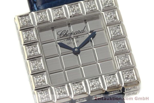 montre de luxe d occasion Chopard Ice Cube or blanc 18 ct quartz Kal. ETA 201001  | 150827 02