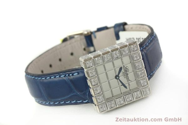 montre de luxe d occasion Chopard Ice Cube or blanc 18 ct quartz Kal. ETA 201001  | 150827 03