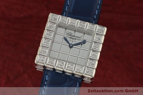montre de luxe d occasion Chopard Ice Cube or blanc 18 ct quartz Kal. ETA 201001  | 150827 04