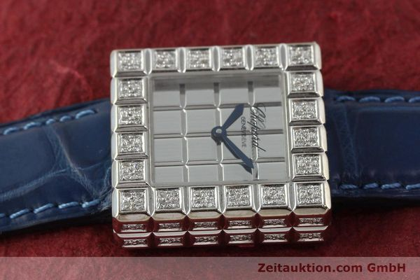 montre de luxe d occasion Chopard Ice Cube or blanc 18 ct quartz Kal. ETA 201001  | 150827 05