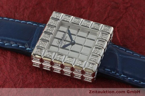 montre de luxe d occasion Chopard Ice Cube or blanc 18 ct quartz Kal. ETA 201001  | 150827 12