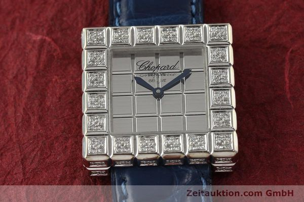 montre de luxe d occasion Chopard Ice Cube or blanc 18 ct quartz Kal. ETA 201001  | 150827 13