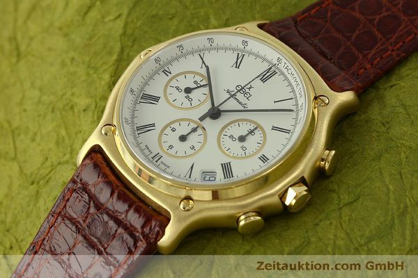 Used luxury watch Ebel 1911 chronograph 18 ct gold automatic Kal. 134 Ref. 8134901  | 150830 01