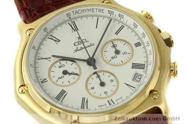 Used luxury watch Ebel 1911 chronograph 18 ct gold automatic Kal. 134 Ref. 8134901  | 150830 02