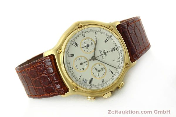 Used luxury watch Ebel 1911 chronograph 18 ct gold automatic Kal. 134 Ref. 8134901  | 150830 03