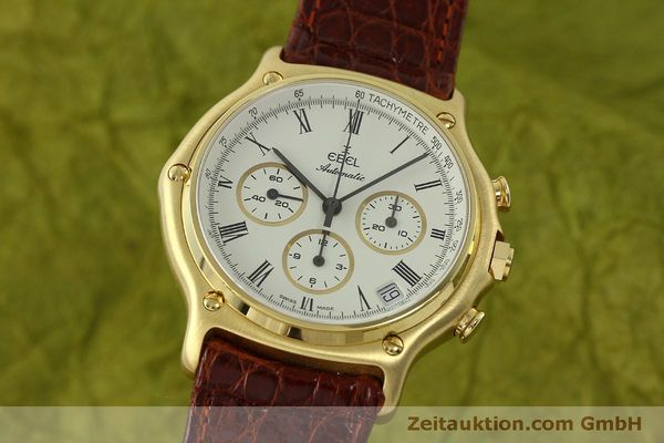 Used luxury watch Ebel 1911 chronograph 18 ct gold automatic Kal. 134 Ref. 8134901  | 150830 04