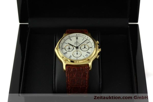 Used luxury watch Ebel 1911 chronograph 18 ct gold automatic Kal. 134 Ref. 8134901  | 150830 07