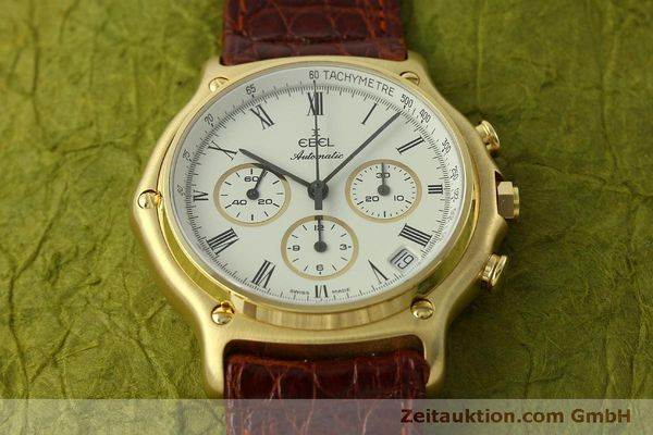 Used luxury watch Ebel 1911 chronograph 18 ct gold automatic Kal. 134 Ref. 8134901  | 150830 16