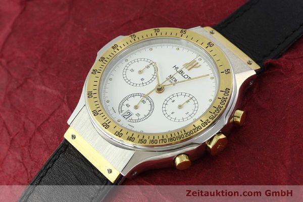 Used luxury watch Hublot MDM chronograph steel / gold quartz Kal. 1270 Ref. 1620.2  | 150835 01