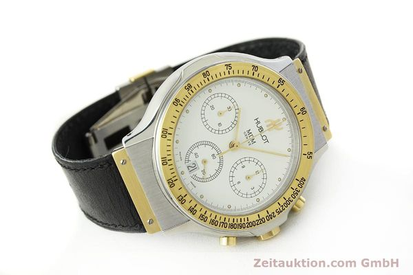 Used luxury watch Hublot MDM chronograph steel / gold quartz Kal. 1270 Ref. 1620.2  | 150835 03