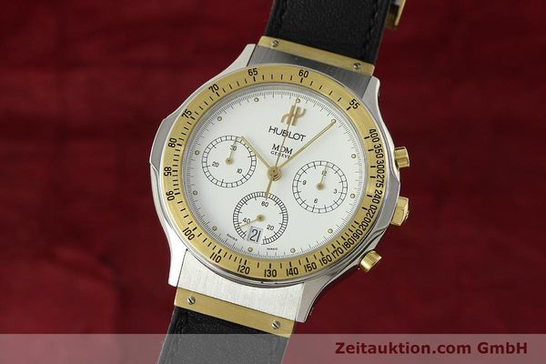 Used luxury watch Hublot MDM chronograph steel / gold quartz Kal. 1270 Ref. 1620.2  | 150835 04