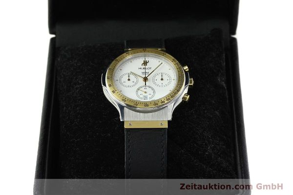 Used luxury watch Hublot MDM chronograph steel / gold quartz Kal. 1270 Ref. 1620.2  | 150835 07
