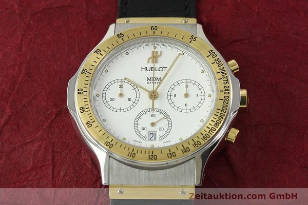 Used luxury watch Hublot MDM chronograph steel / gold quartz Kal. 1270 Ref. 1620.2  | 150835 12