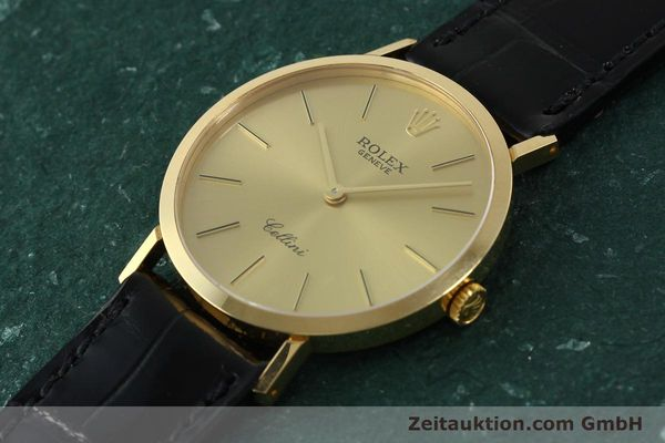 Used luxury watch Rolex Cellini 18 ct gold manual winding Kal. 1601 Ref. 4112  | 150836 01