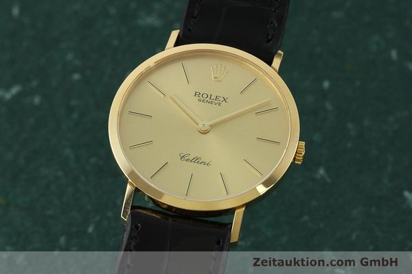 Used luxury watch Rolex Cellini 18 ct gold manual winding Kal. 1601 Ref. 4112  | 150836 04