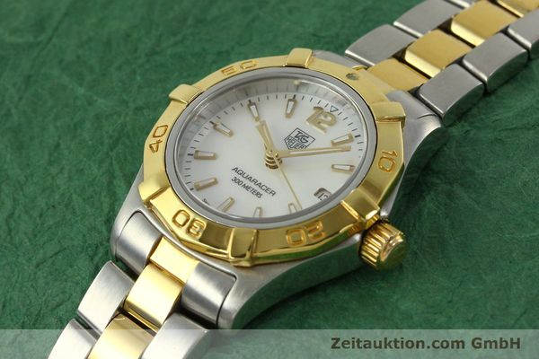 Used luxury watch Tag Heuer Aquaracer steel / gold quartz Kal. ETA F0311 Ref. CG3879  | 150839 01
