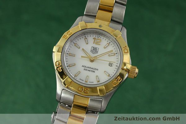 Used luxury watch Tag Heuer Aquaracer steel / gold quartz Kal. ETA F0311 Ref. CG3879  | 150839 04