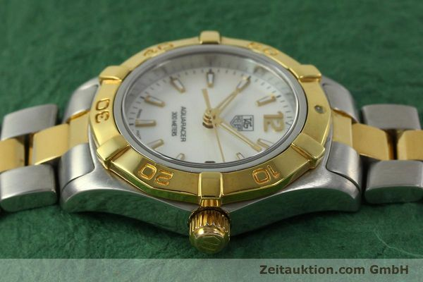 Used luxury watch Tag Heuer Aquaracer steel / gold quartz Kal. ETA F0311 Ref. CG3879  | 150839 05