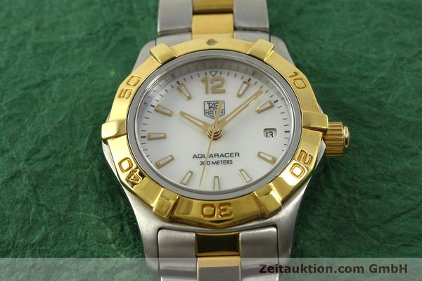 Used luxury watch Tag Heuer Aquaracer steel / gold quartz Kal. ETA F0311 Ref. CG3879  | 150839 14