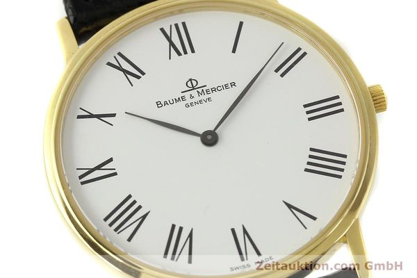 montre de luxe d occasion Baume & Mercier * or 18 ct quartz Kal. BM 9098 ETA 210001 Ref. MV0453088  | 150845 02