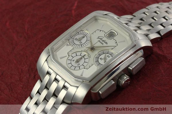 Used luxury watch Glashütte Senator chronograph steel automatic Kal. 39 Ref. 39-32-06-04-04  | 150852 01