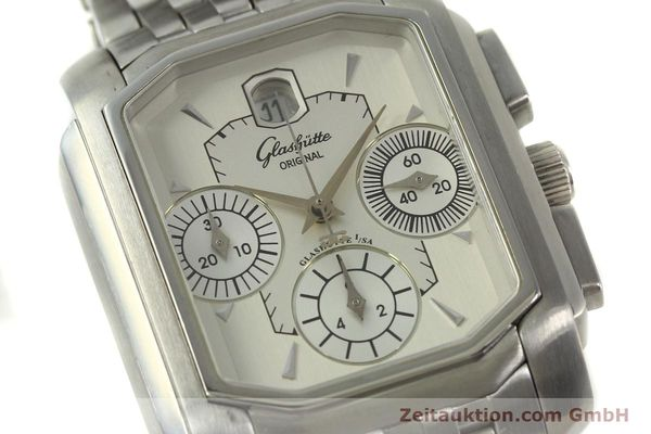 Used luxury watch Glashütte Senator chronograph steel automatic Kal. 39 Ref. 39-32-06-04-04  | 150852 02