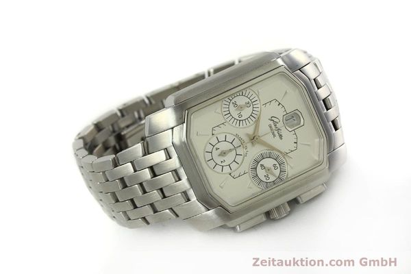 Used luxury watch Glashütte Senator chronograph steel automatic Kal. 39 Ref. 39-32-06-04-04  | 150852 03