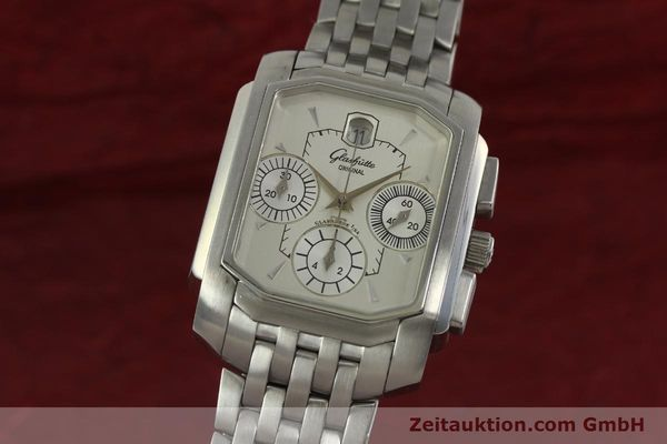 Used luxury watch Glashütte Senator chronograph steel automatic Kal. 39 Ref. 39-32-06-04-04  | 150852 04
