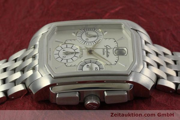 Used luxury watch Glashütte Senator chronograph steel automatic Kal. 39 Ref. 39-32-06-04-04  | 150852 05