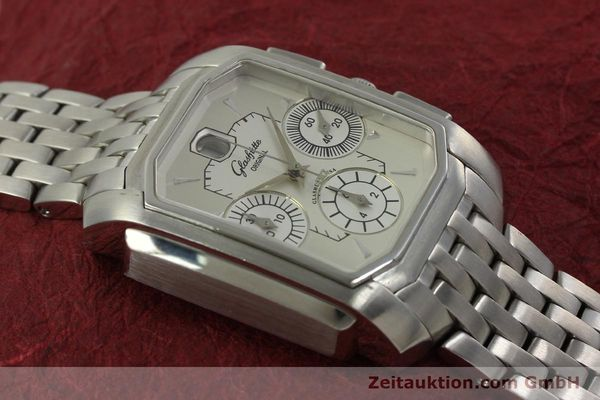 Used luxury watch Glashütte Senator chronograph steel automatic Kal. 39 Ref. 39-32-06-04-04  | 150852 15
