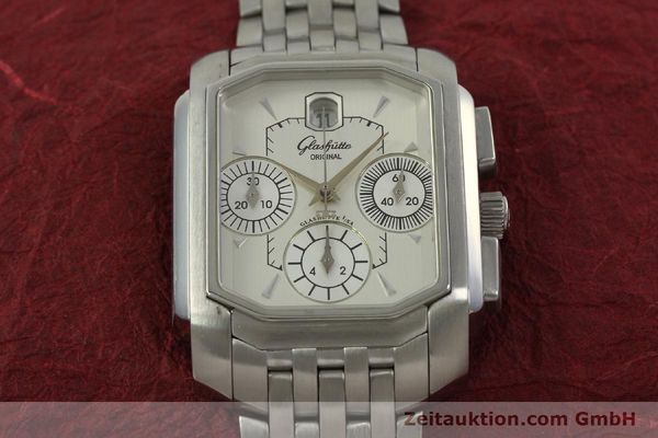 Used luxury watch Glashütte Senator chronograph steel automatic Kal. 39 Ref. 39-32-06-04-04  | 150852 16