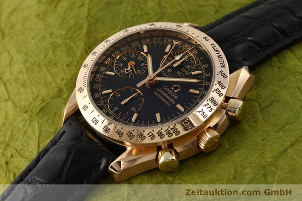 Used luxury watch Omega Speedmaster chronograph 18 ct gold automatic Kal. 1151 Ref. 36235001  | 150855 01