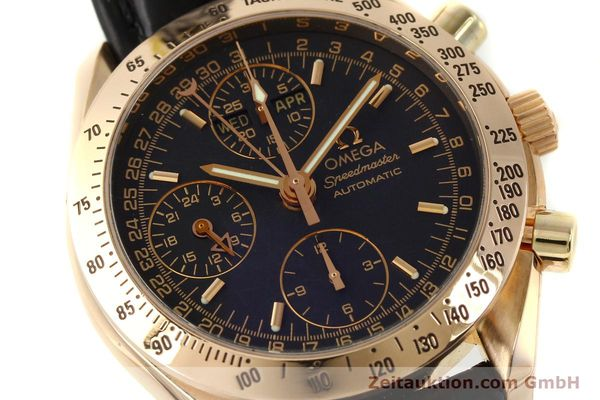 Used luxury watch Omega Speedmaster chronograph 18 ct gold automatic Kal. 1151 Ref. 36235001  | 150855 02