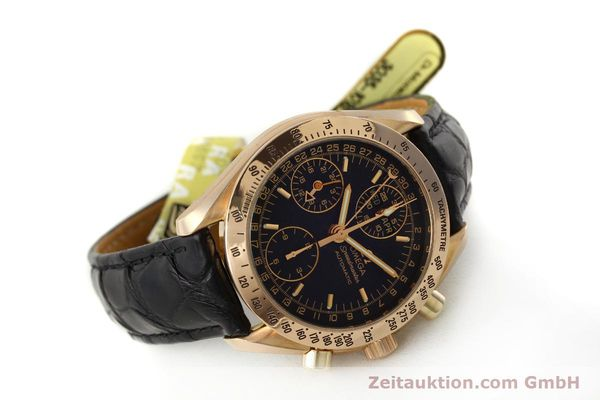 Used luxury watch Omega Speedmaster chronograph 18 ct gold automatic Kal. 1151 Ref. 36235001  | 150855 03