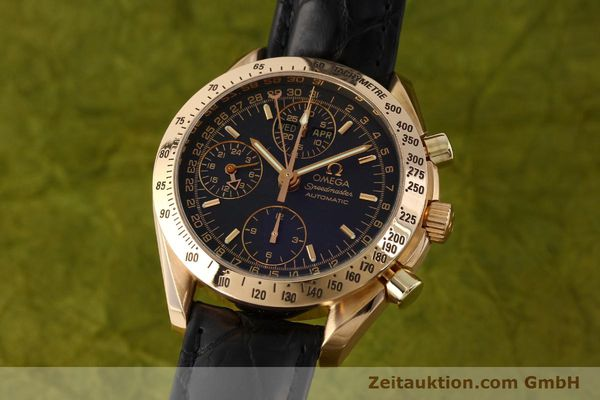 Used luxury watch Omega Speedmaster chronograph 18 ct gold automatic Kal. 1151 Ref. 36235001  | 150855 04