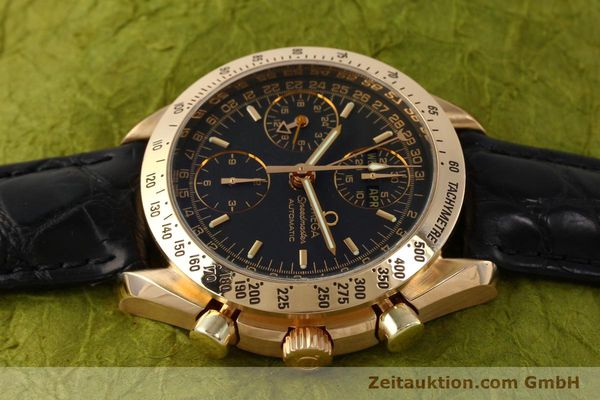 Used luxury watch Omega Speedmaster chronograph 18 ct gold automatic Kal. 1151 Ref. 36235001  | 150855 05