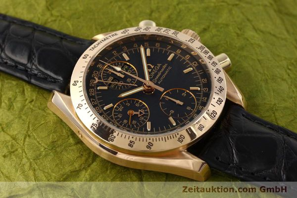 Used luxury watch Omega Speedmaster chronograph 18 ct gold automatic Kal. 1151 Ref. 36235001  | 150855 16