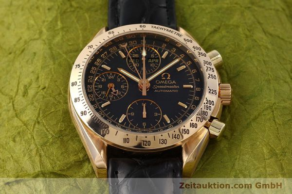 Used luxury watch Omega Speedmaster chronograph 18 ct gold automatic Kal. 1151 Ref. 36235001  | 150855 17
