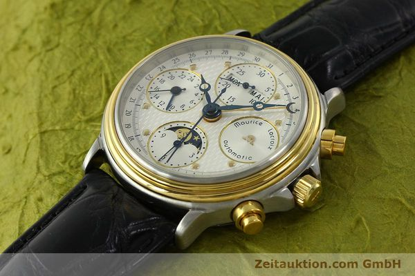 Used luxury watch Maurice Lacroix Phase de Lune  chronograph steel / gold automatic Kal. Val 7751 Ref. 02336  | 150861 01