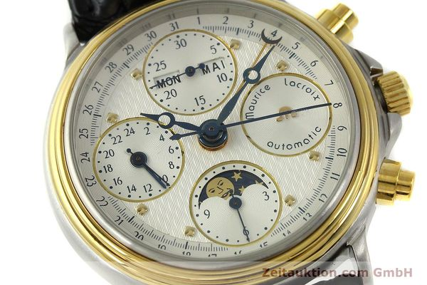 Used luxury watch Maurice Lacroix Phase de Lune  chronograph steel / gold automatic Kal. Val 7751 Ref. 02336  | 150861 02