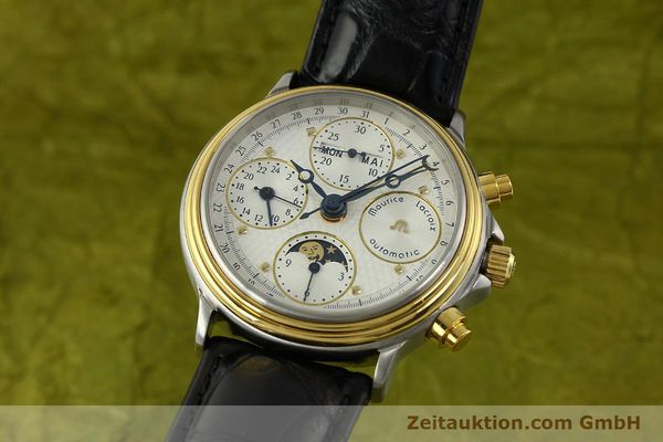 Used luxury watch Maurice Lacroix Phase de Lune  chronograph steel / gold automatic Kal. Val 7751 Ref. 02336  | 150861 04
