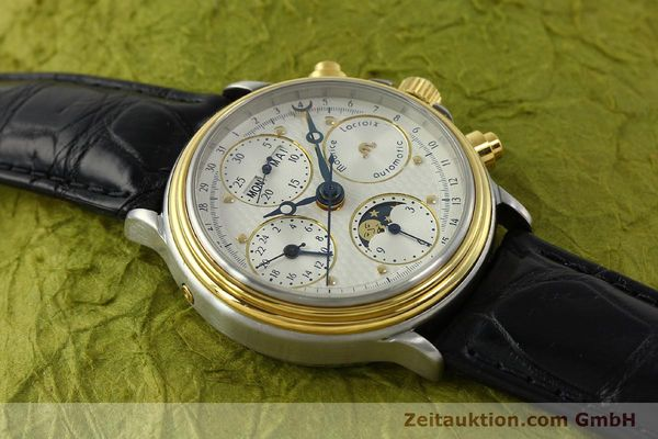 Used luxury watch Maurice Lacroix Phase de Lune  chronograph steel / gold automatic Kal. Val 7751 Ref. 02336  | 150861 14
