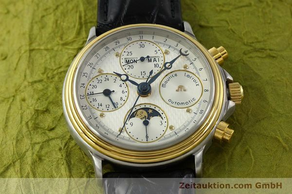 Used luxury watch Maurice Lacroix Phase de Lune  chronograph steel / gold automatic Kal. Val 7751 Ref. 02336  | 150861 15