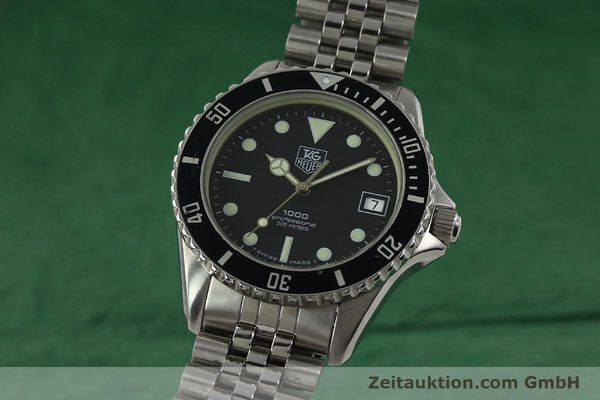 Used luxury watch Tag Heuer Professional steel quartz Kal. ETA 955114 Ref. 980.013B  | 150864 04