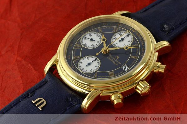 Used luxury watch Maurice Lacroix Croneo chronograph gold-plated automatic Kal. ETA 7750 Ref. 03700  | 150867 01