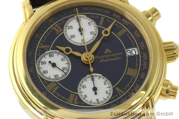 Used luxury watch Maurice Lacroix Croneo chronograph gold-plated automatic Kal. ETA 7750 Ref. 03700  | 150867 02